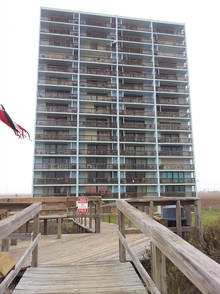 Beach View of Mustang Towers